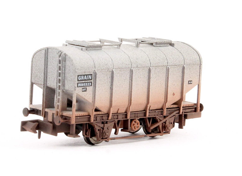 DAPOL Bulk Grain Hopper- BR Livery #B885323 - Weathered