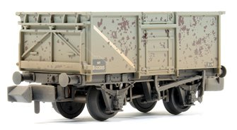 BR 16T Steel Mineral Wagon With Top Flap Doors BR Grey (Early) Weathered
