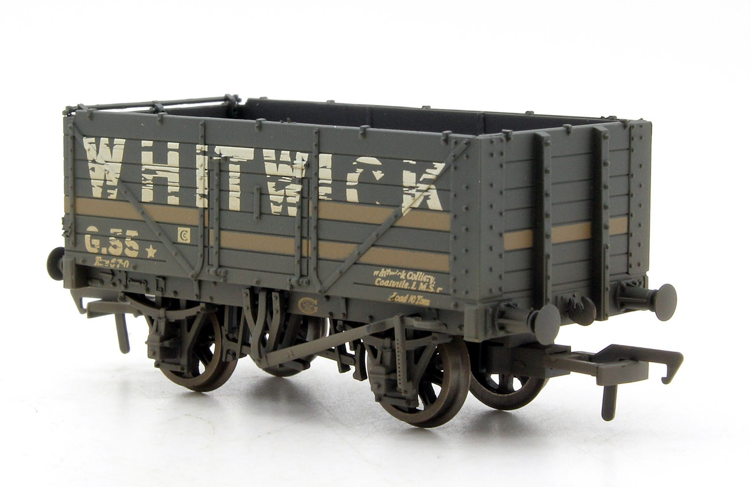 7 Plank End Door Wagon 'Whitwick' with Load Weathered
