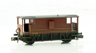 20 Ton Ex-LMS Brake Van BR Bauxite (Late) - Weathered