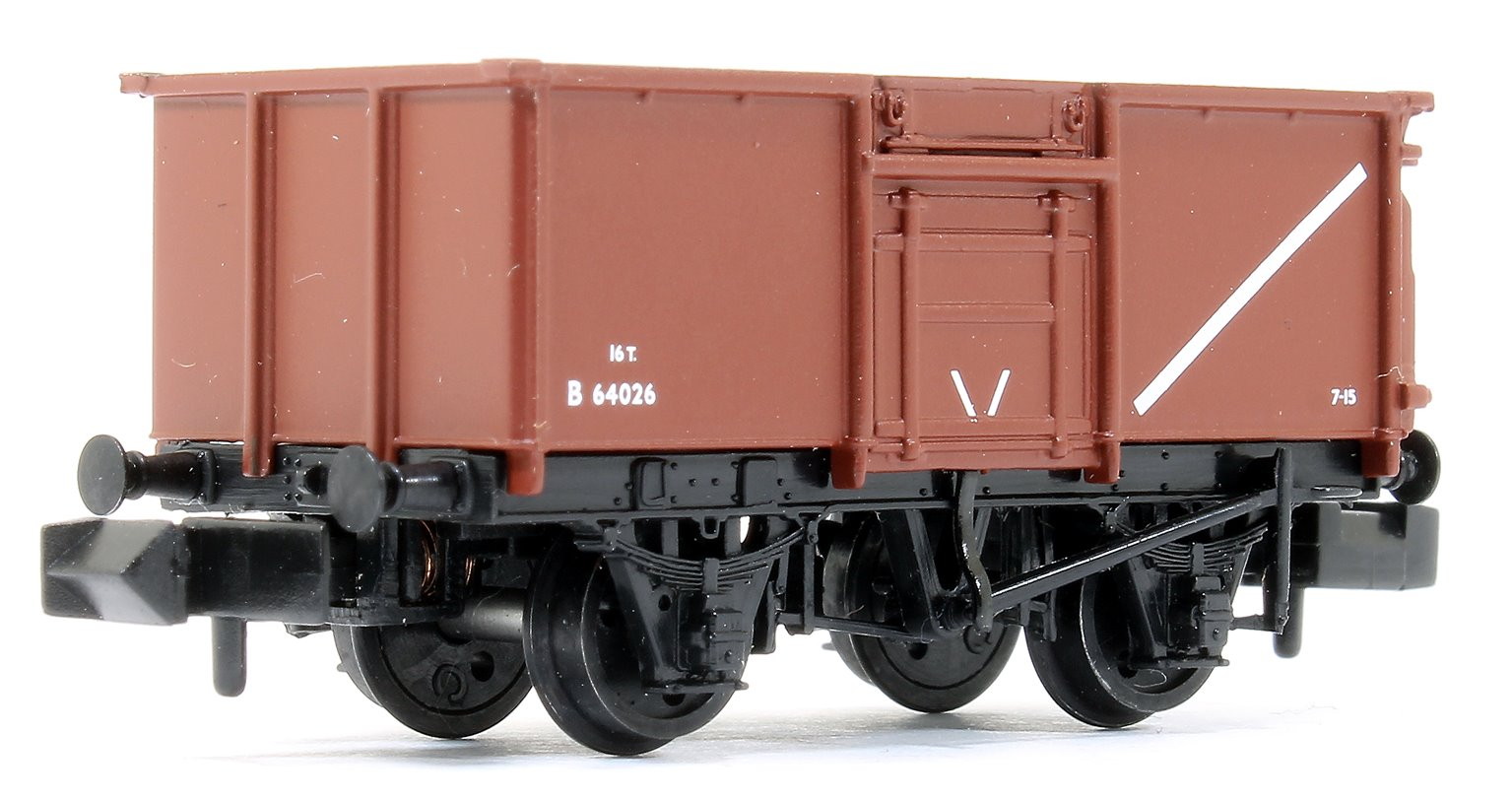 16 Ton Steel Mineral Wagon With Top Flap Doors BR Bauxite