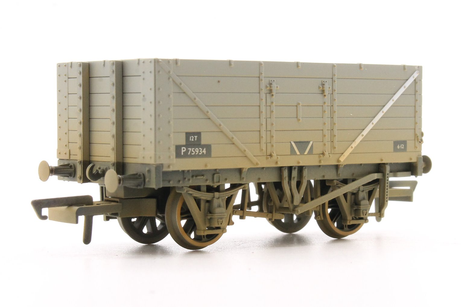 7 Plank Mineral Wagon - BR Grey P75934
