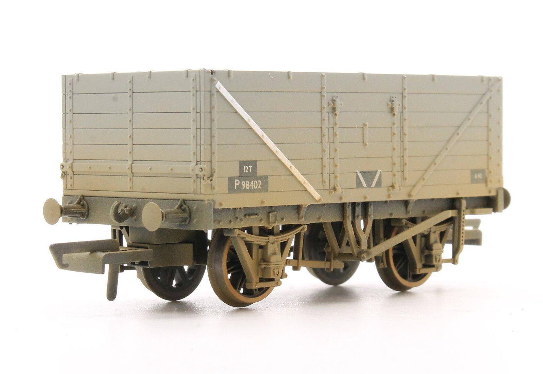 7 Plank Mineral Wagon Set (3) - BR Grey