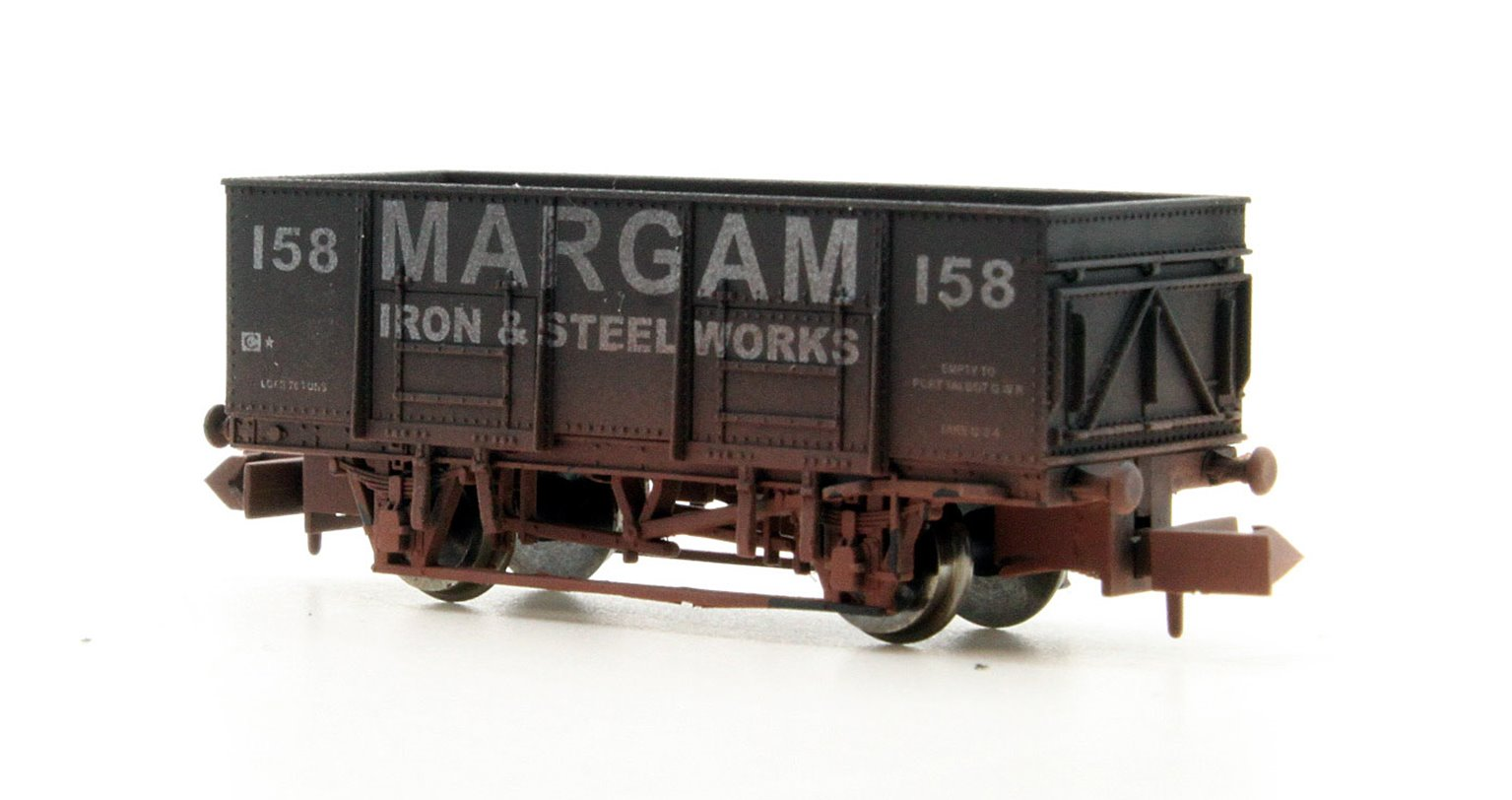 "Dapol 2F-038-052 20 Ton Steel Mineral Wagon ""Margam"" 159 - Weathered"
