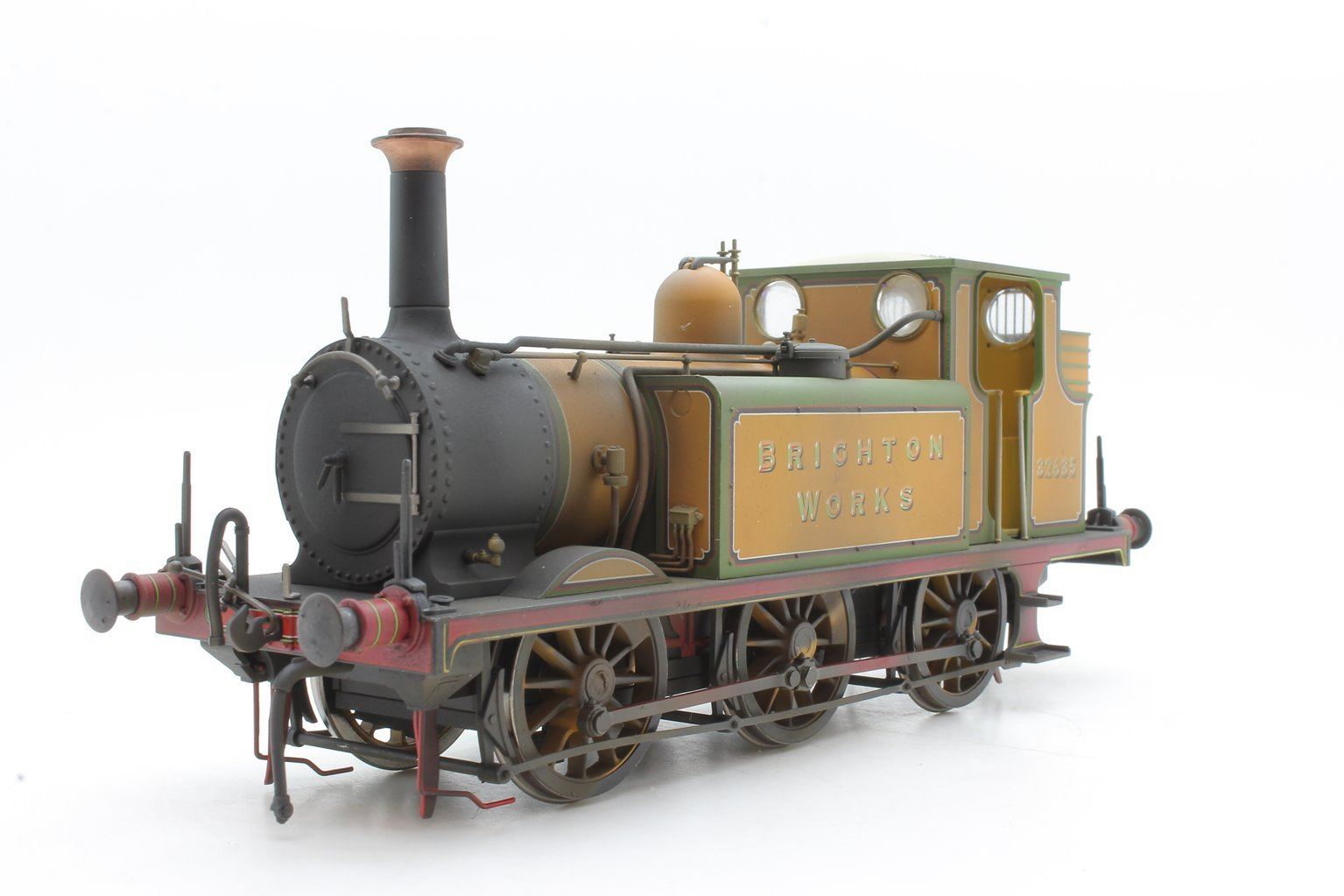 Class A1X Terrier Brighton Works 32635 in LBSCR improved engine green - Weathered & DCC Sound