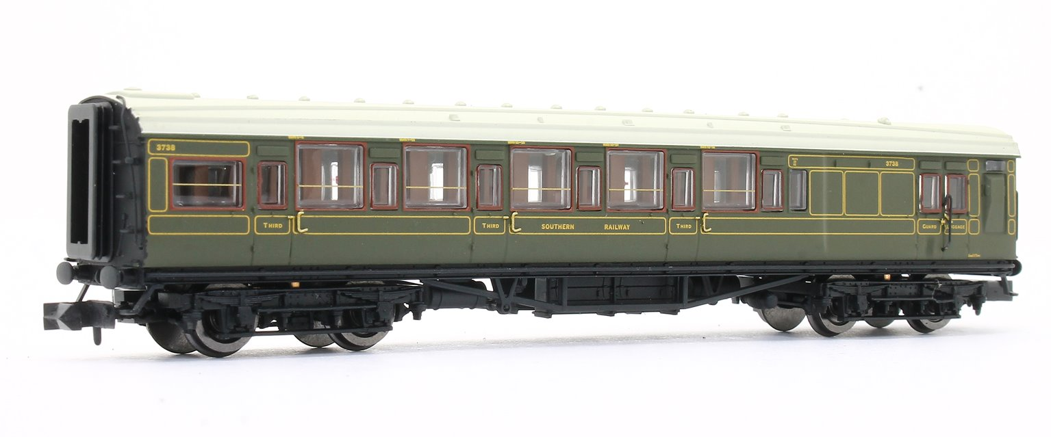 Maunsell High Window 4 coach Set Lined Olive Green Set # 193