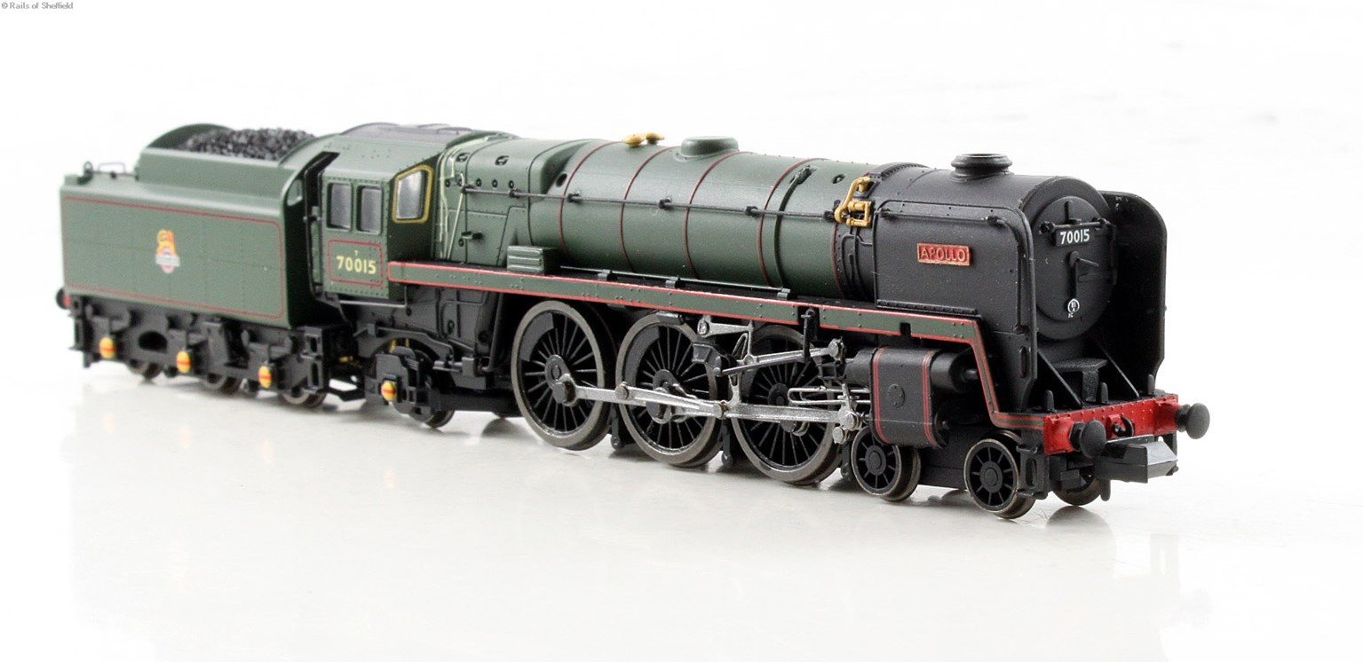"""Class 7MT Britannia 4-6-2 #70015 """"Apollo"""" in BR green with early crest - DCC Fitted"""