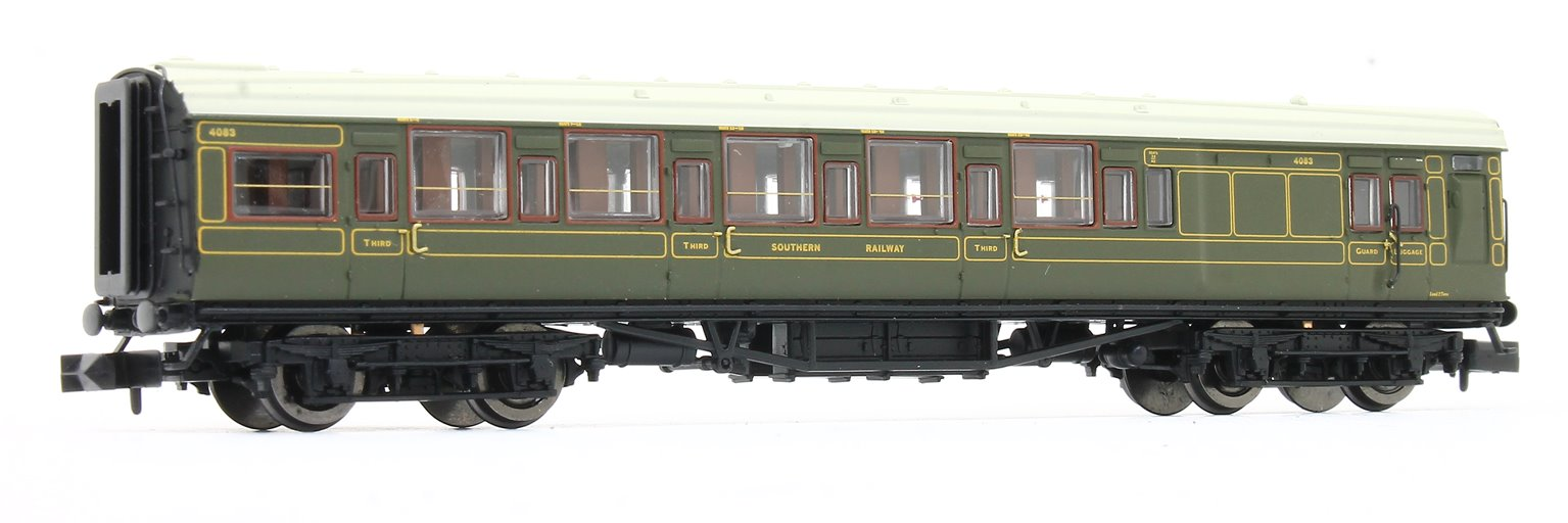Maunsell High Window 6 coach set Lined Olive Green Set # 456