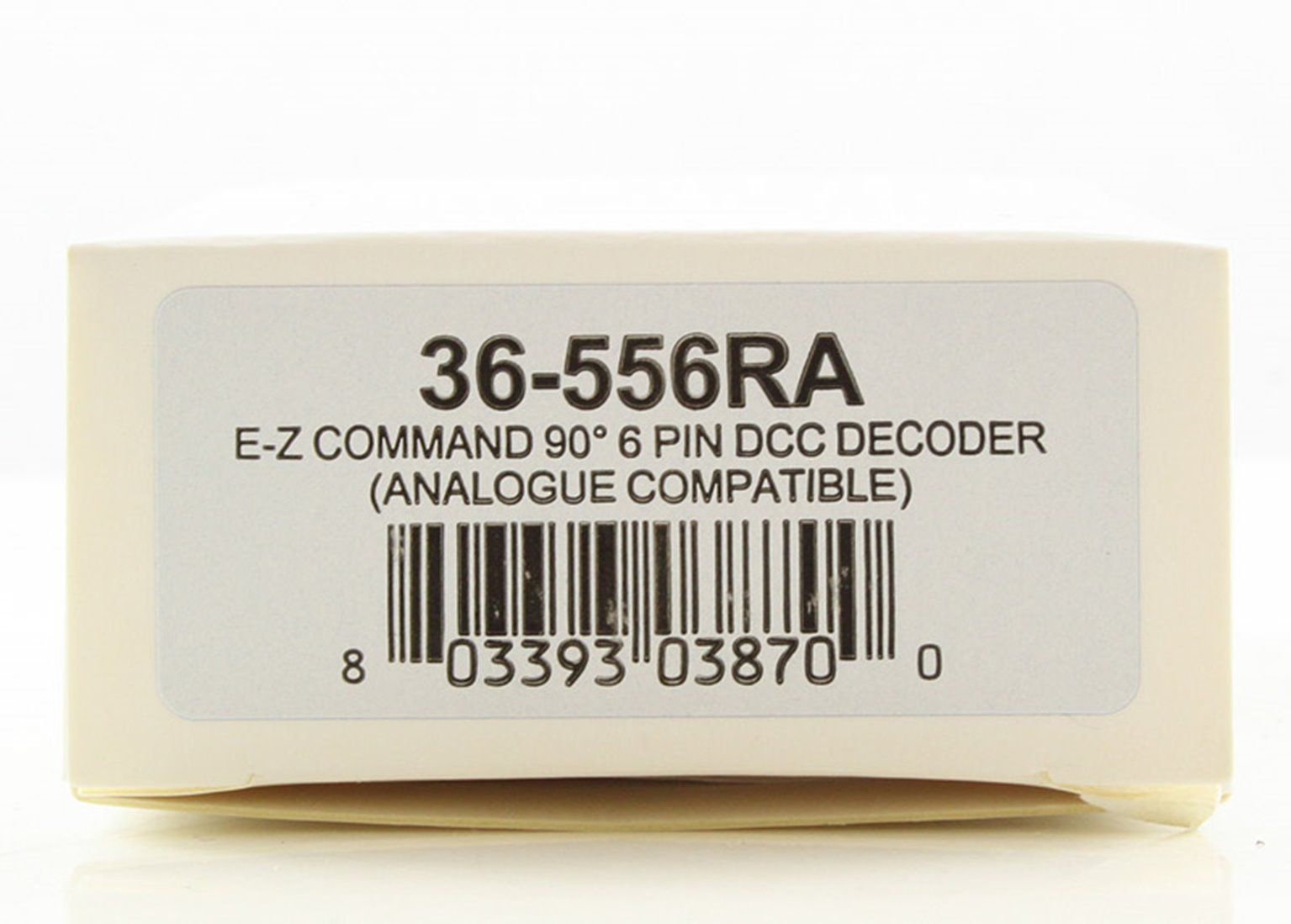 E-Z Command 90°6 Pin DCC Decoder (DC Compatible) + Back EMF