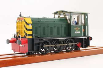 PRE-OWNED Heljan Class 05 - D2607 BR Green Diesel Shunter Locomotive (DCC Sound Fitted)