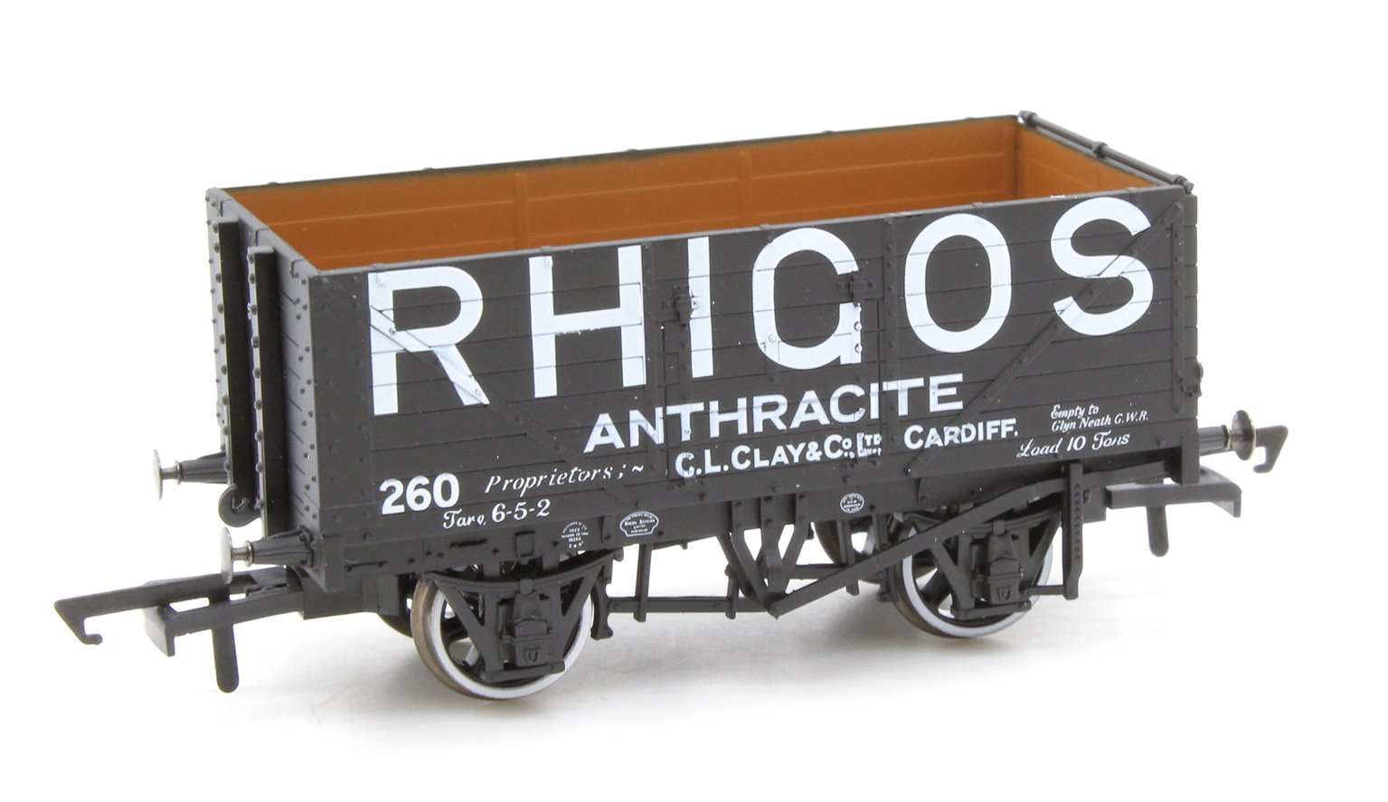 7 Plank Mineral Wagon Rhigos Anthracite Cardiff No.260