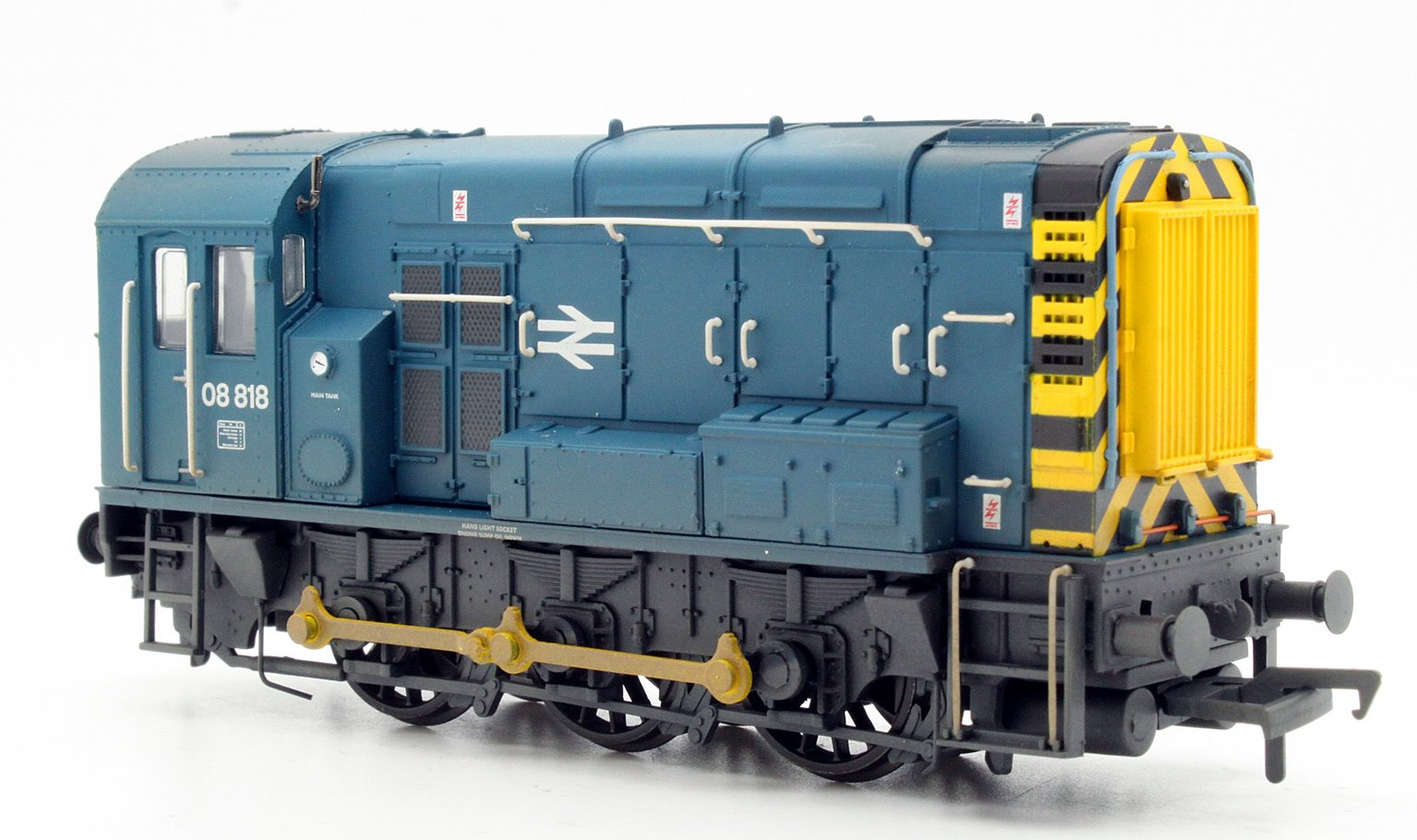 Class 08 08818 BR Blue Wasp Stripes Weathered