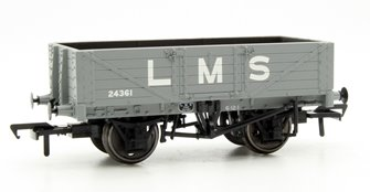 5 Plank Wagon Wooden Floor LMS Grey