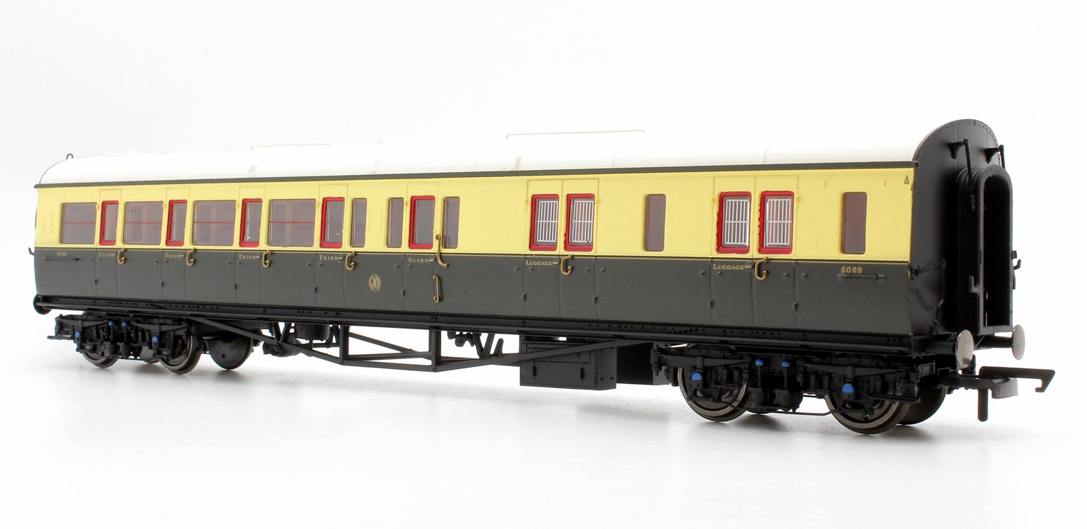 GWR Collett Coach Corridor Brake Third Class RH '5089', Chocolate & Cream