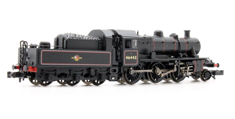 Ivatt Class 2MT BR Lined Black Late Crest 2-6-0 Locomotive 46443