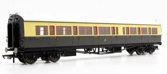 GWR Collett Coach Corridor Composite LH '6530', Chocolate & Cream