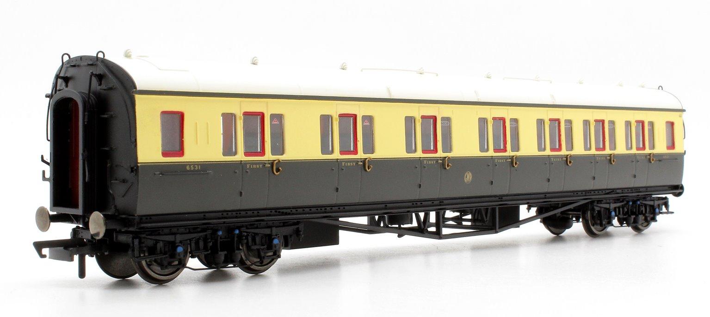 GWR Collett Coach Corridor Composite RH '6531', Chocolate & Cream
