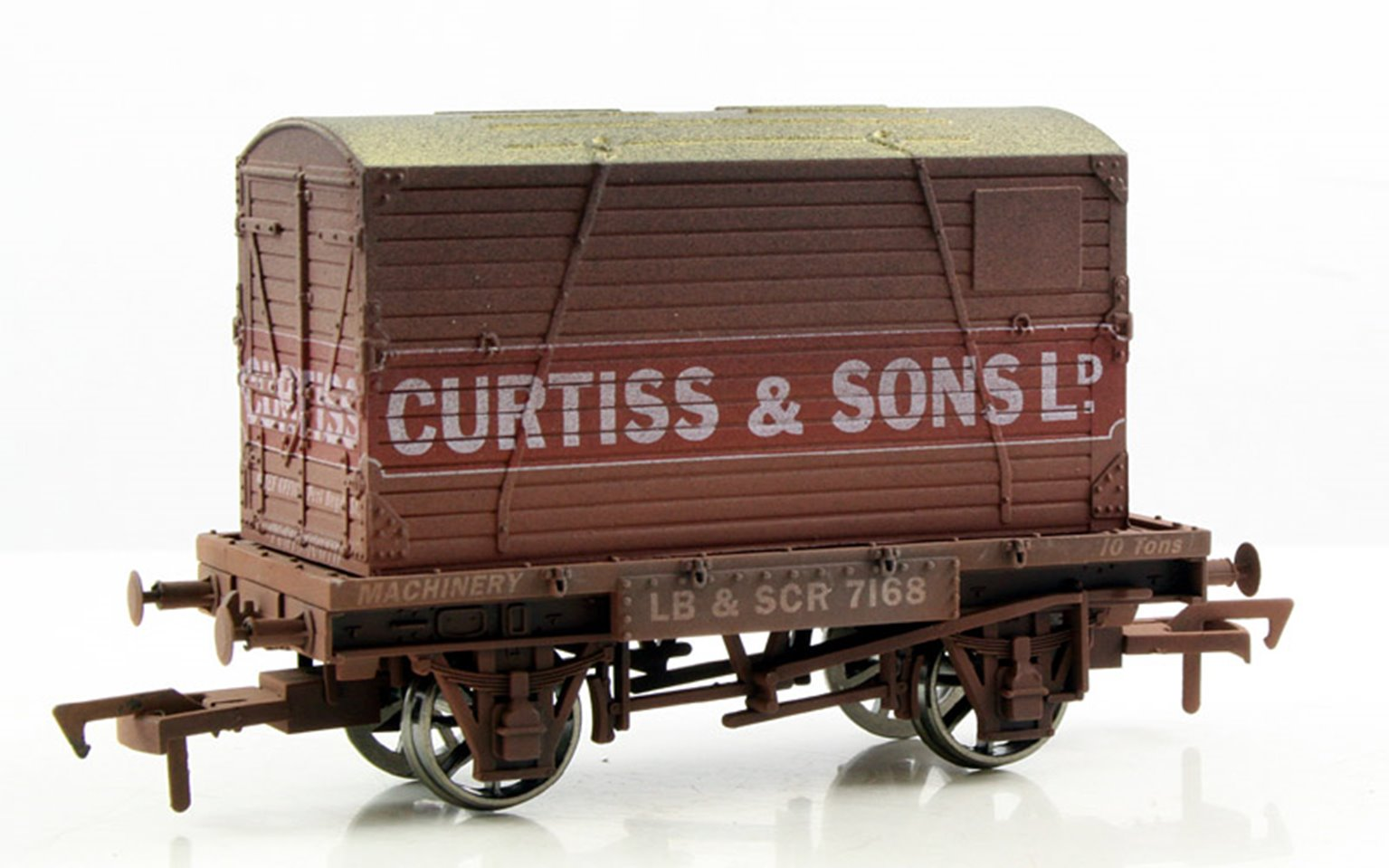 Curtiss Conflat Wagon & Container - Weathered