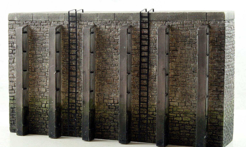 Quayside walls x2
