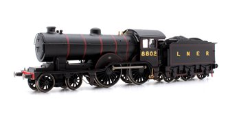 LNER Black Class D16/3 4-4-0 Steam Locomotive No.8802