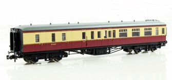 Hawksworth Brake 3rd Class Corridor BR Crimson & Cream