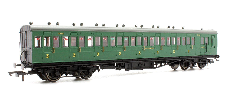 SR 58' Maunsell Rebuilt (Ex-LSWR 48') Eight Compartment Brake Third Class Coach '2638' - Set 44, SR Green