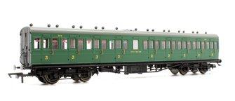 SR 58' Maunsell Rebuilt (Ex-LSWR 48') Nine Compartment Third Class Coach '320'. SR Green