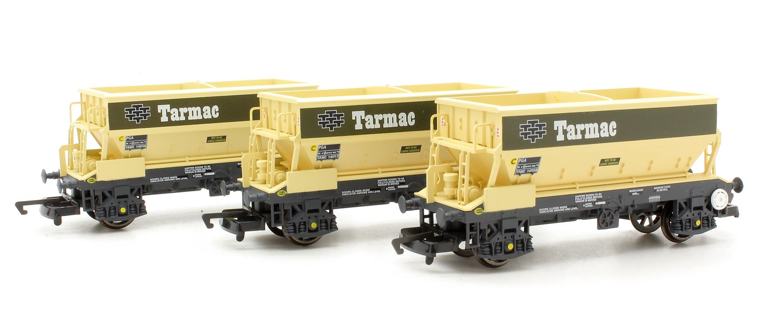PGA Hopper Wagons, Tarmac - Three Wagon Pack