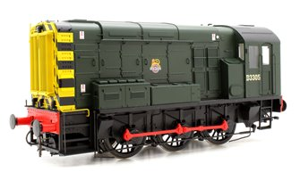Class 08 BR Green D3305 Early Crest Wasp Stripes