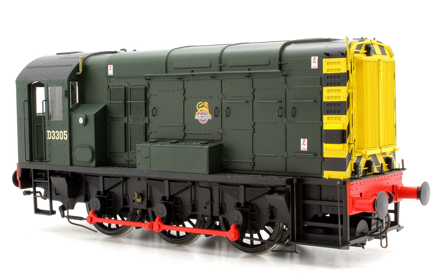 Class 08 BR Green D3305 E/Crest Wasp Stripes (DCC-Sound)