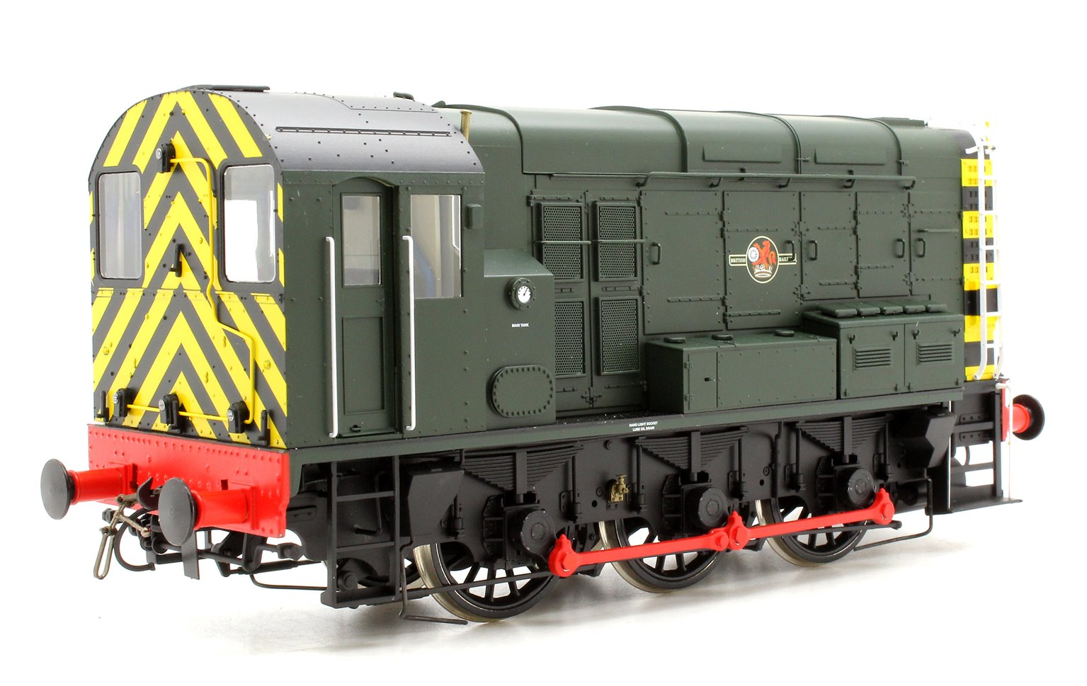 Class 08 BR Green D3002 Late Crest Wasp Stripes Unnumbered