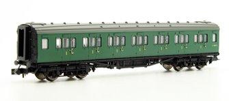 Maunsell Coach BR 1st Class SR Green 7367