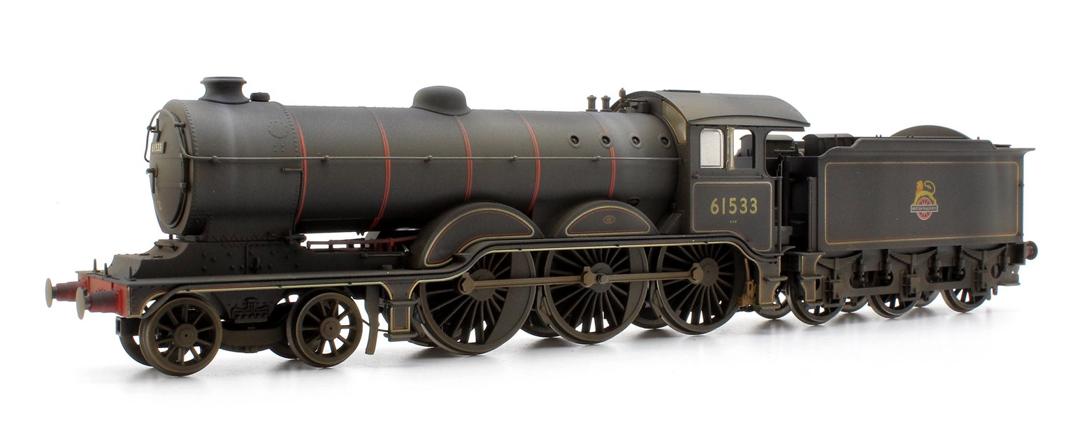 Custom Finished BR (Early) Black Class B12 4-6-0 Locomotive 61533 Weathered