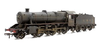 Custom Finished Stanier Mogul LMS Lined Black 2-6-0 Locomotive 2965 Weathered