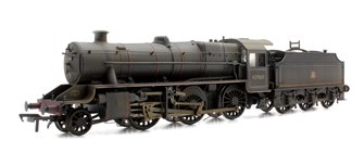Custom Finished Stanier Mogul BR Lined Black Early Emblem 2-6-0 Loco 42969 Weathered