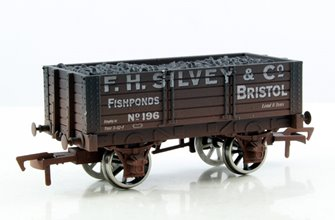 F H Silvey 5 Plank Wagon (Weathered)