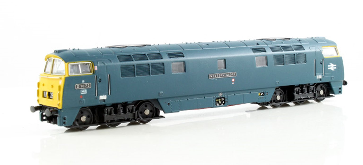 Class 52 'Western Glory' #D1072 BR Blue Full Yellow Panel - DCC Fitted