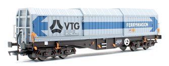 Telescopic Hood Wagon Tiphook Blue Grey Livery # 589 9 024-9