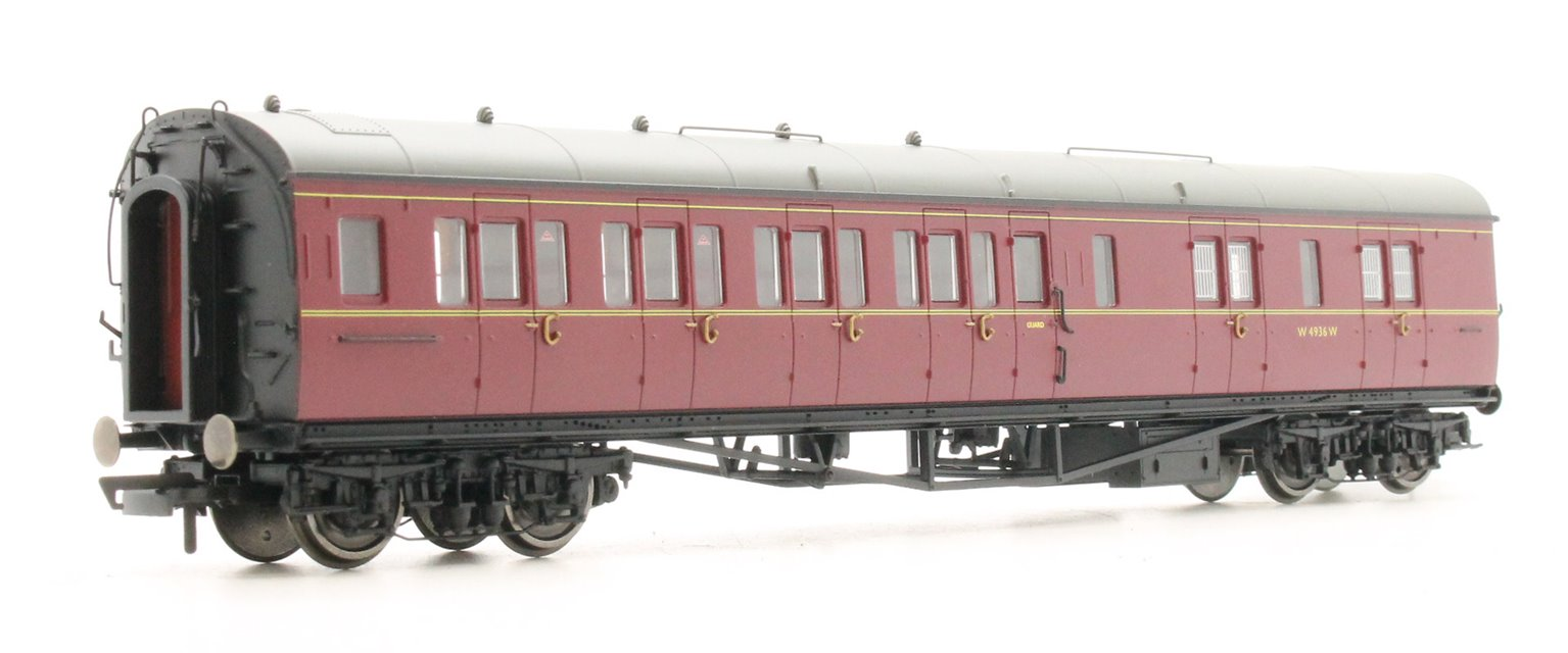 BR Collett Coach Corridor Brake Third Class LH 'W4936W', Maroon