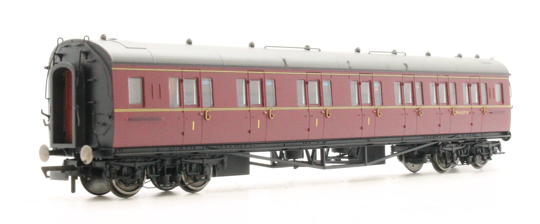 """BR Collett Coach Corridor Composite RH """"W6137W', Maroon"""