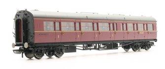 BR Collett Coach Corridor Composite LH 'W6138W', Maroon