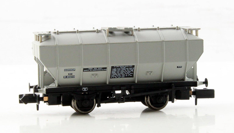 Covered Hopper Wagon 'Soda Ash' Light Grey