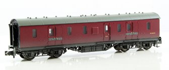 LMS 50ft Full Brake BR Crimson - Weathered