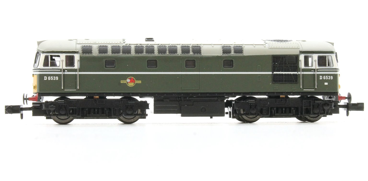 Class 33/0 #D6539 BR Green Small Yellow Warning Panel