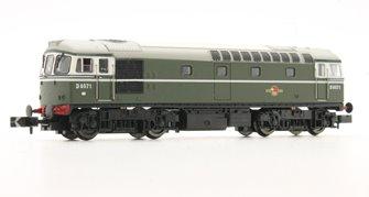 Class 33/0 #D6571 BR Green No Yellow Warning Panel