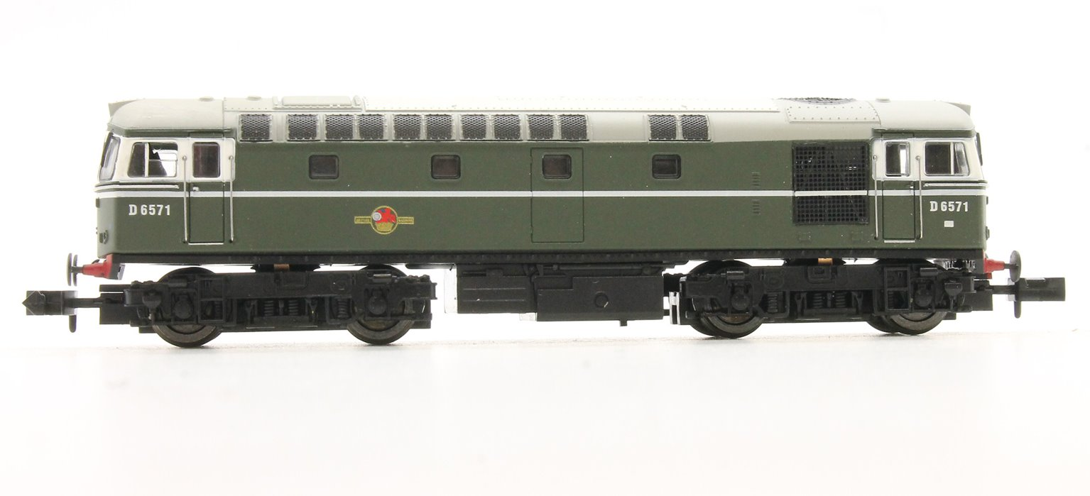 Class 33/0 #D6571 BR Green No Yellow Warning Panel