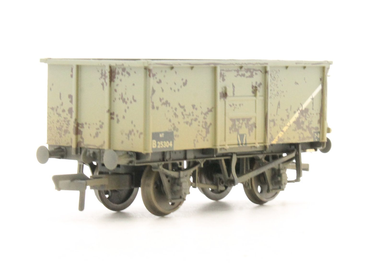 16 Ton Steel Mineral Wagon BR Grey - Weathered