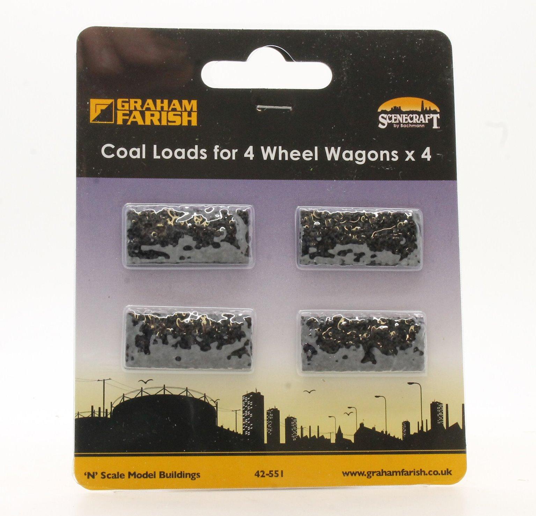 Coal Loads for 4 Wheel Wagons (x4)