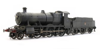 Custom Finished Class 43xx Mogul 2-6-0 in BR black with early crest - Weathered