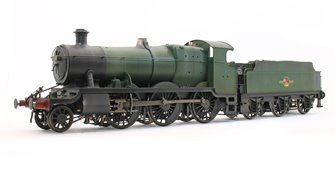 Custom Finished Class 43xx Mogul 2-6-0 in BR unlined green with late crest - Weathered